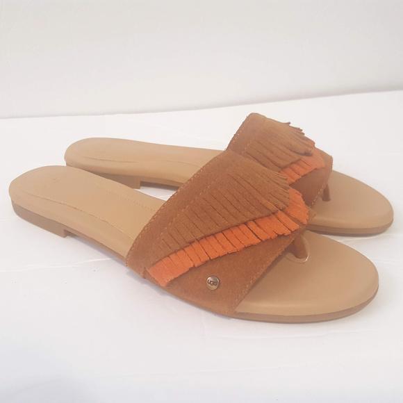 68d9c544efff UGG Women s Binx Fringe Sandals Slides Size 6.5